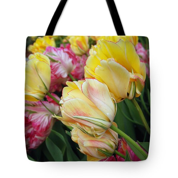 A Bouquet Of Tulips For You Tote Bag by Eva Kaufman