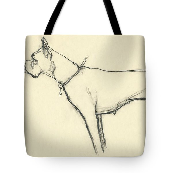 A Boxer Dog Tote Bag