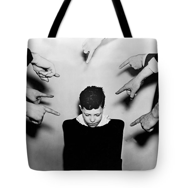 A Boy Is Shamed. Tote Bag by Underwood Archives