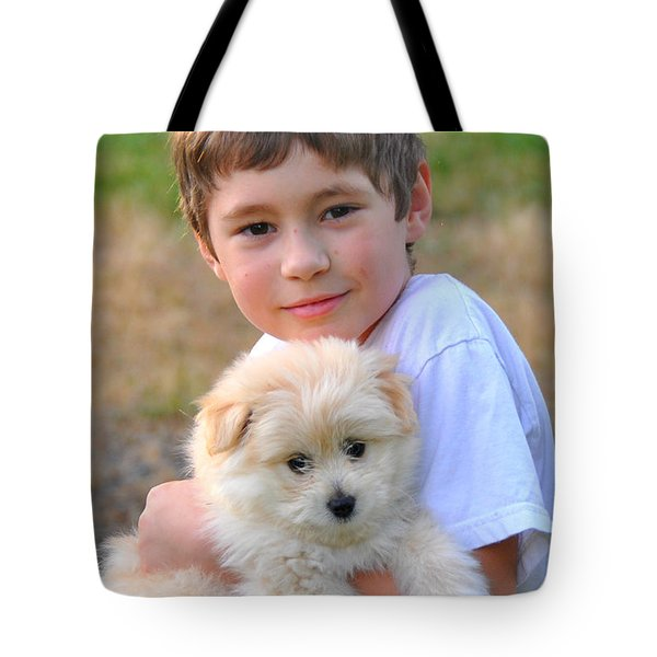 A Boy's Best Freind Tote Bag