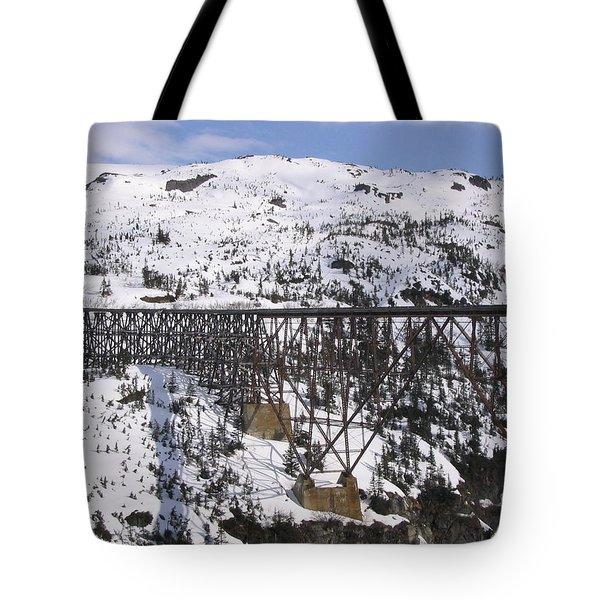 A Bridge In Alaska Tote Bag