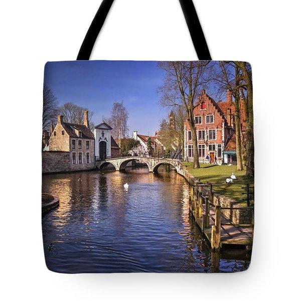 Blue Bruges Tote Bag