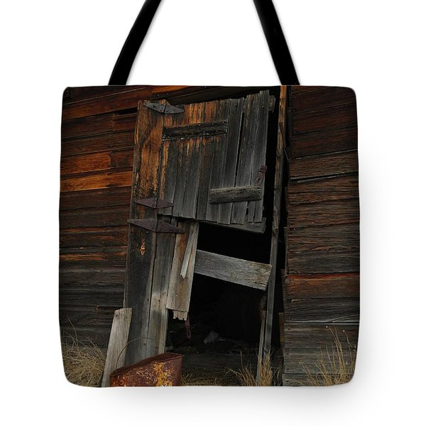 A Bucket And A Door Tote Bag by Jeff Swan