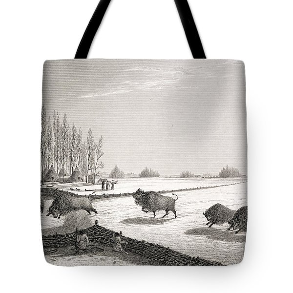 A Buffalo Pound Tote Bag by George Back