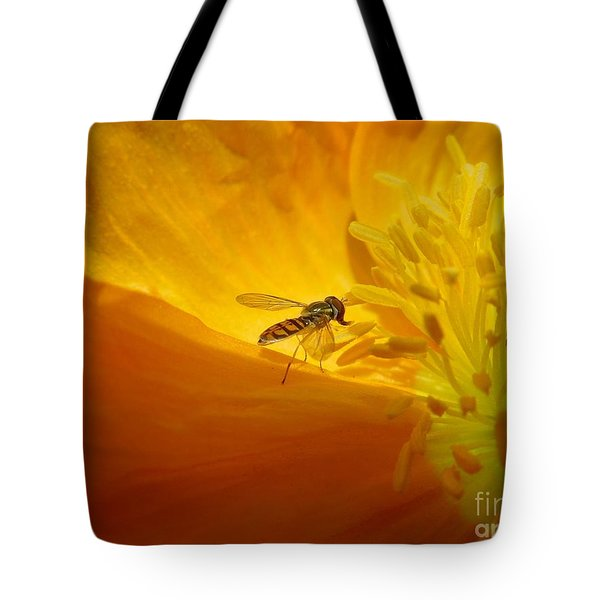A Bug And A Green Inner Glow Tote Bag