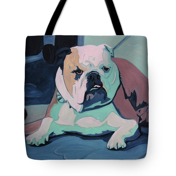 A Bulldog In Love Tote Bag