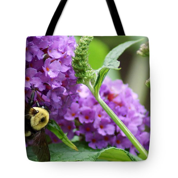 A Bumblebee In The Garden Tote Bag by Kim Pate