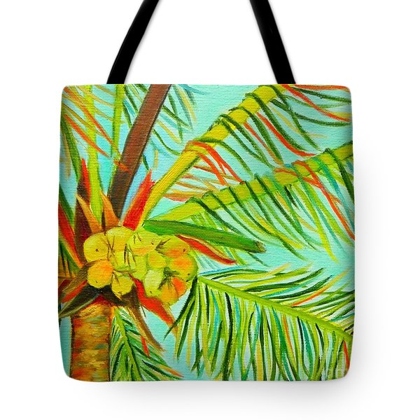 Tote Bag featuring the painting A Bunch Of Coconuts by Shelia Kempf