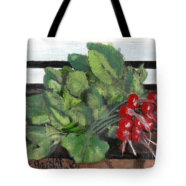 A Bunch Of Radishes  Tote Bag by Francine Heykoop