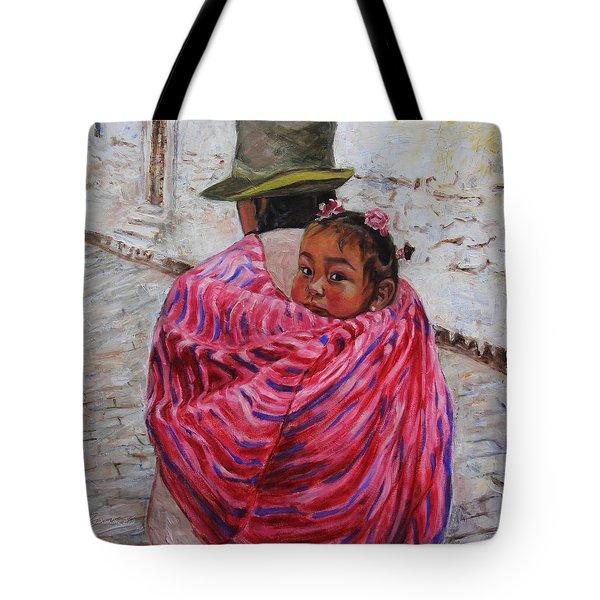 A Bundle Buggy Swaddle - Peru Impression IIi Tote Bag