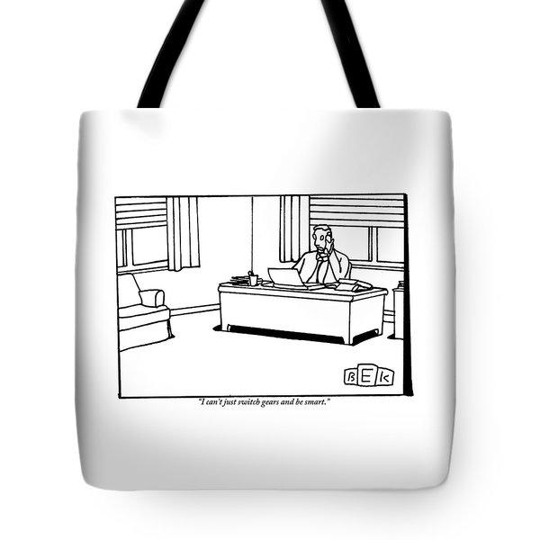 A Businessman At His Desk Tote Bag