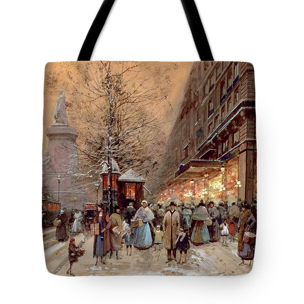 A Busy Boulevard Near The Place De La Republique Paris Tote Bag