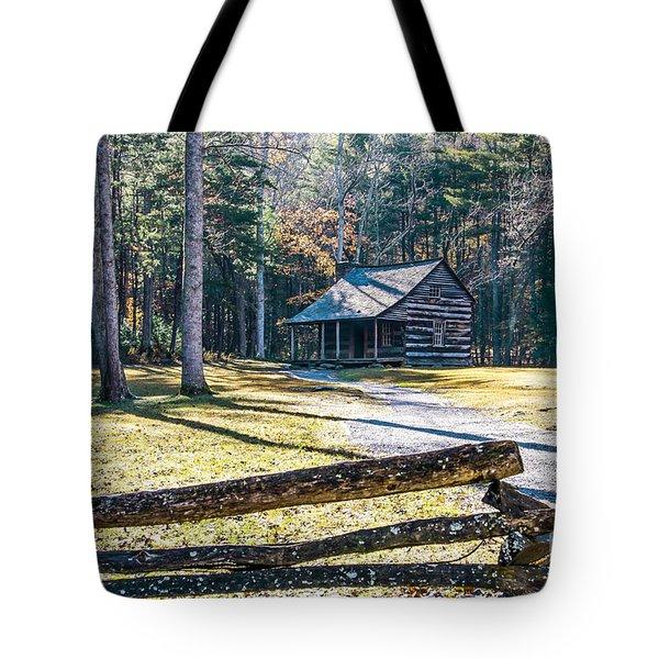 A Cabin In Cades Cove Tote Bag