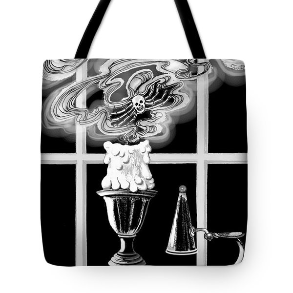 Tote Bag featuring the digital art A Candle Snuffed by Carol Jacobs
