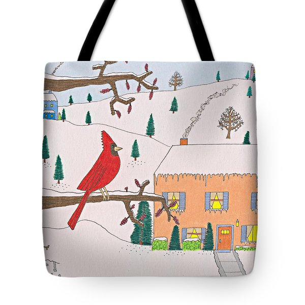 A Cardinal Christmas Tote Bag