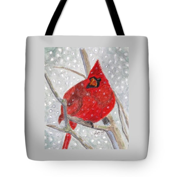 A Cardinal Winter Tote Bag