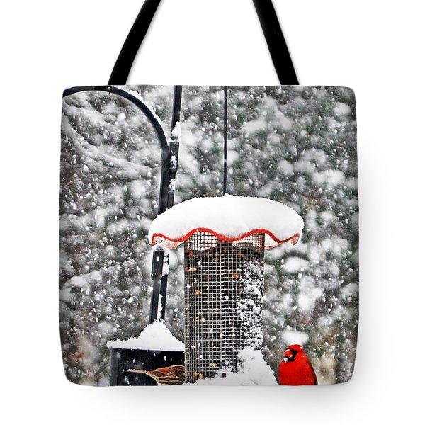 A Cardinal Winter Tote Bag