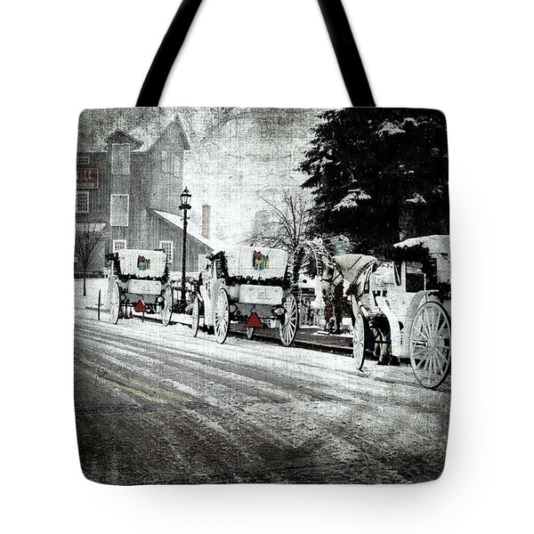 A Carriage Ride - Days Of The Past Tote Bag