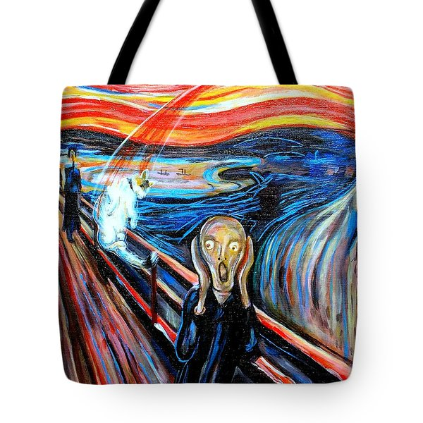 A Cat For Edvard Munch_ Annie Passing Through Tote Bag