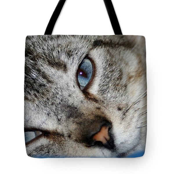 A Cat Named...blue Tote Bag