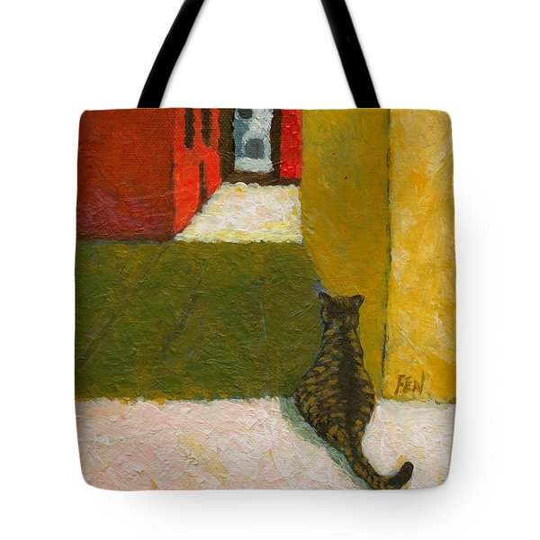 A Cat Waiting For Someone's Return Tote Bag
