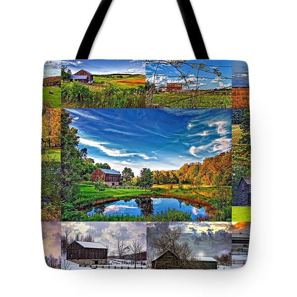 A Celebration Of Barns  Tote Bag by Steve Harrington