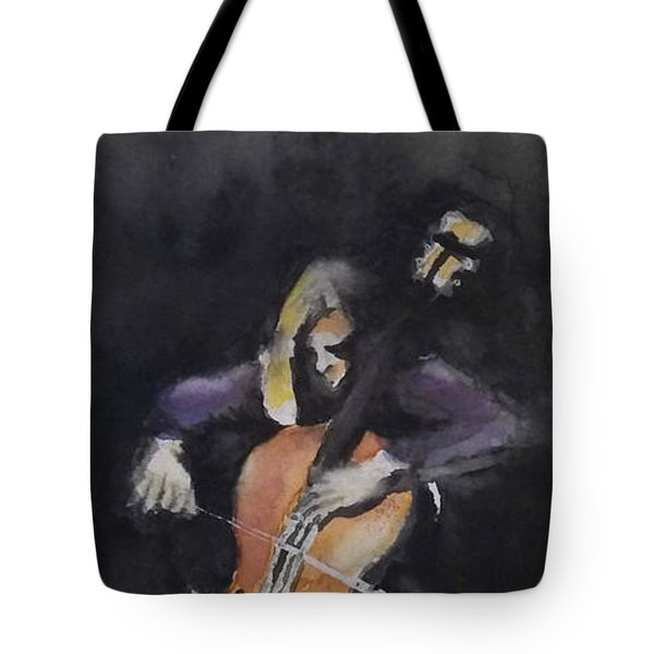 A Cellist Tote Bag by Yoshiko Mishina