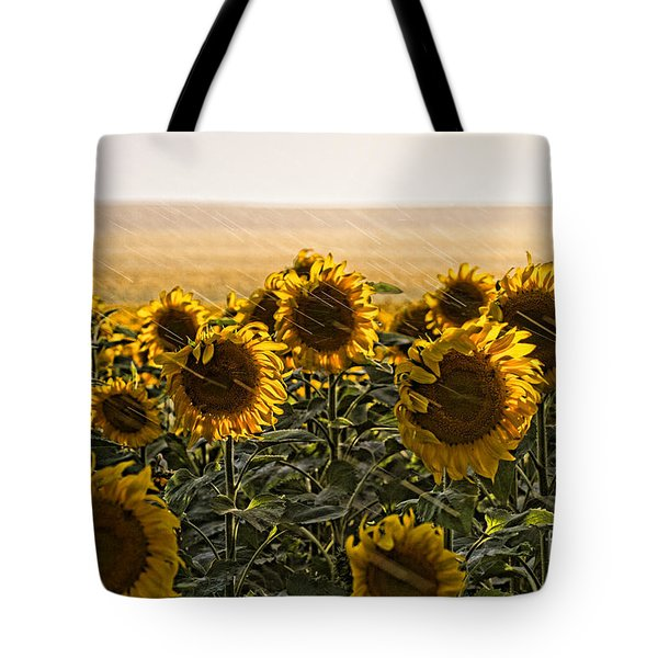 A Chance Of Showers Tote Bag by Jim Garrison