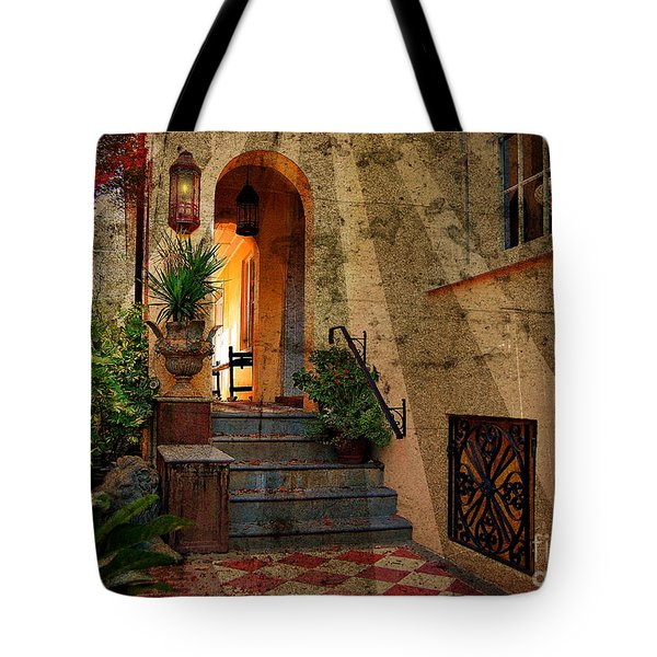 Tote Bag featuring the photograph A Charleston Garden by Kathy Baccari