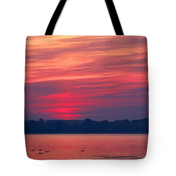 A Chesapeake Bay Sunrise Tote Bag