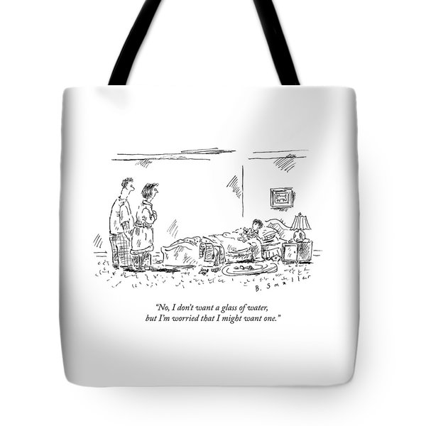 A Child Going To Bed Speaks To His Parents Tote Bag