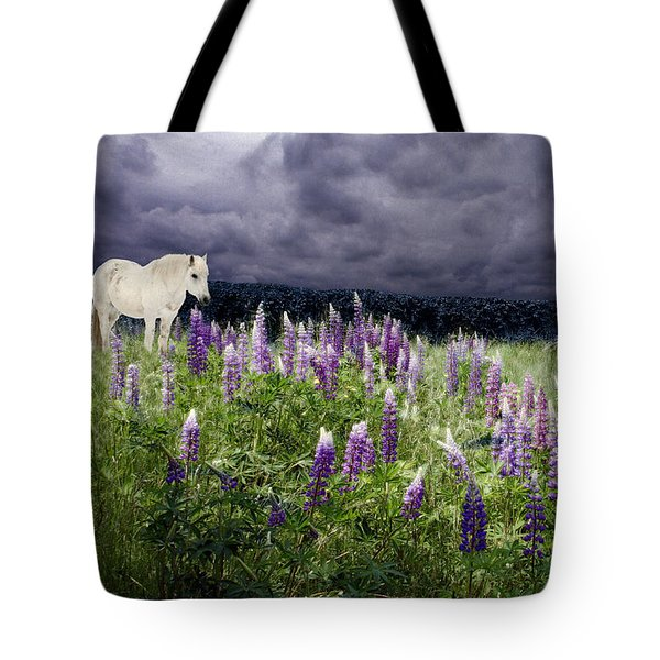 A Childs Dream Among Lupine Tote Bag