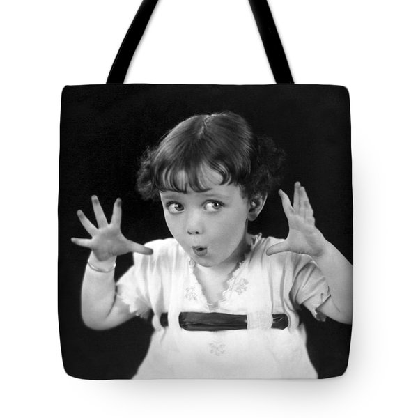 A Child's Scary Look Tote Bag
