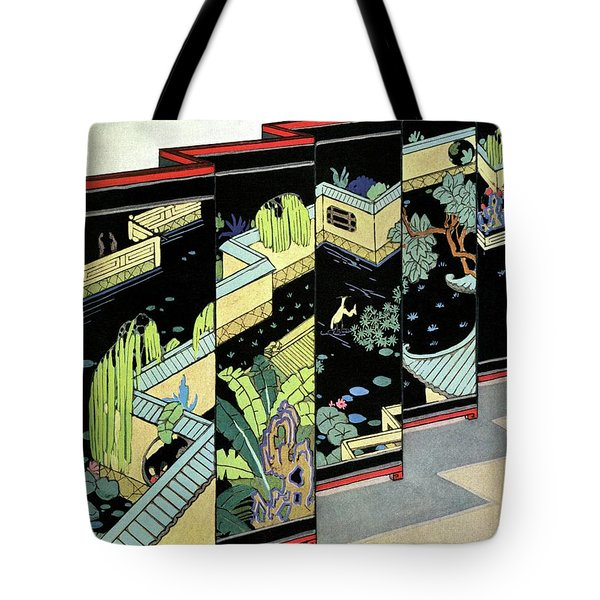 A Chinese Screen Tote Bag
