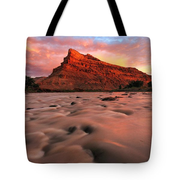 Tote Bag featuring the photograph A Chocolate Milk River by Ronda Kimbrow