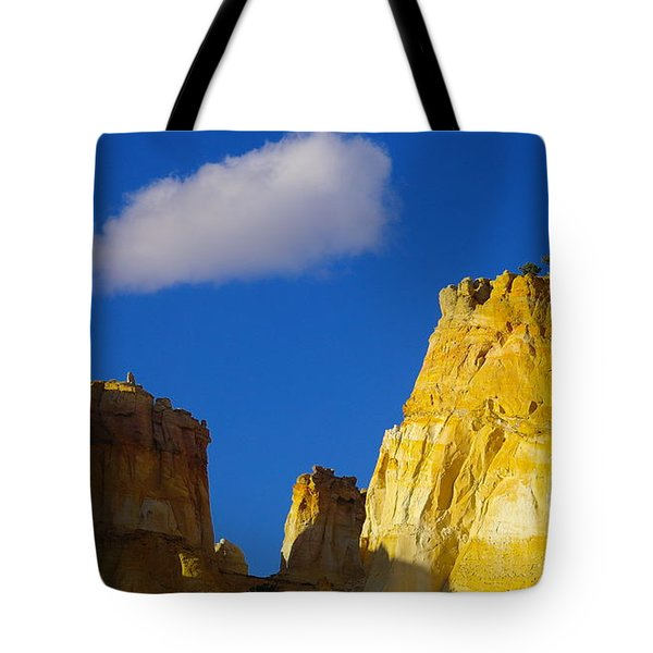 A Cloud Over Orange Rock Tote Bag by Jeff Swan