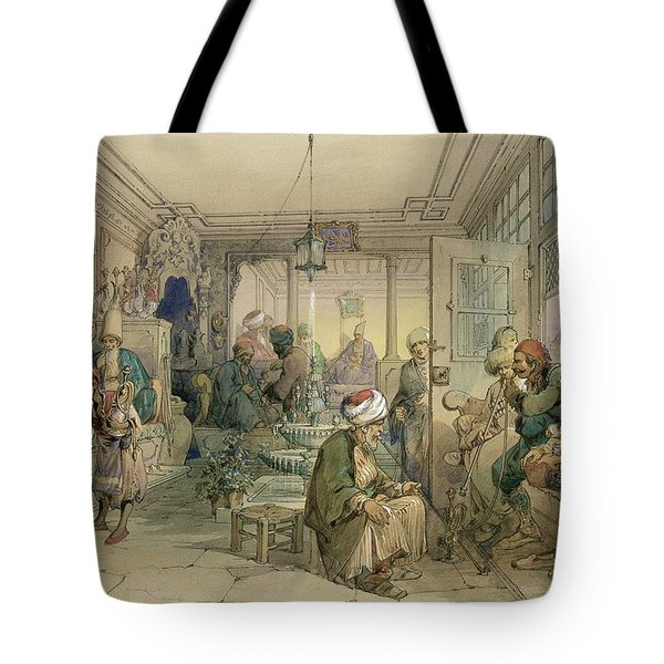 A Coffee House, Constantinople, 1854 Tote Bag