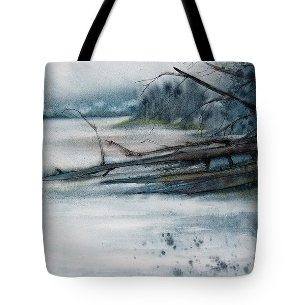 A Cold And Foggy View Tote Bag