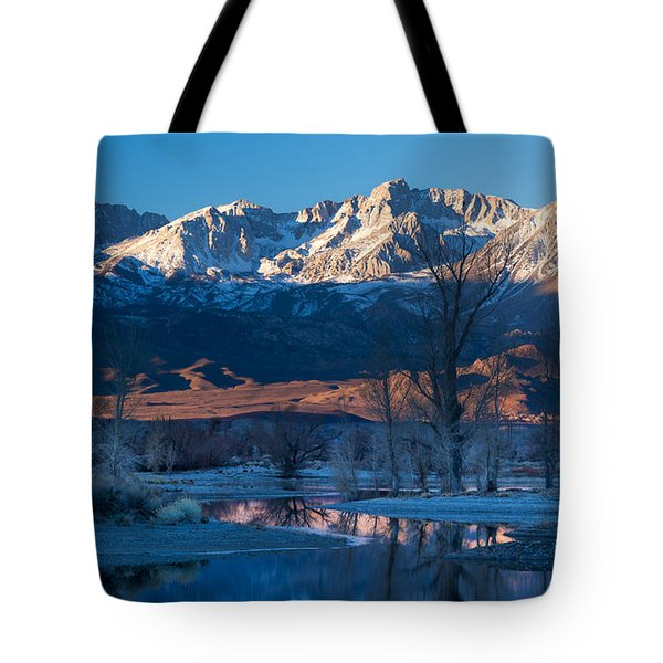 A Cold Dawn Light Tote Bag