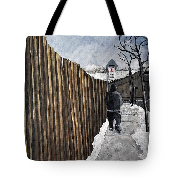 A Cold Day In Pointe St. Charles Tote Bag by Reb Frost