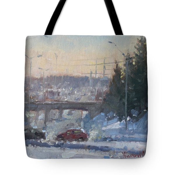 A Cold Morning Tote Bag