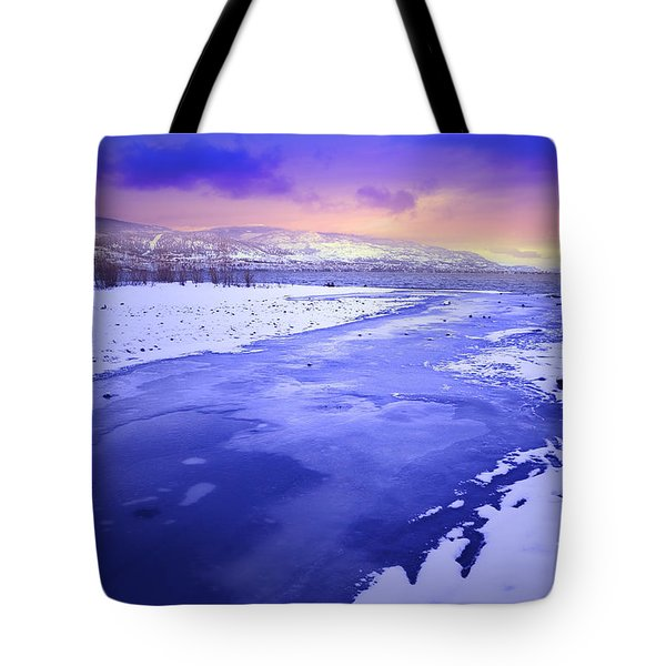 A Cold New Years Eve Tote Bag by Tara Turner