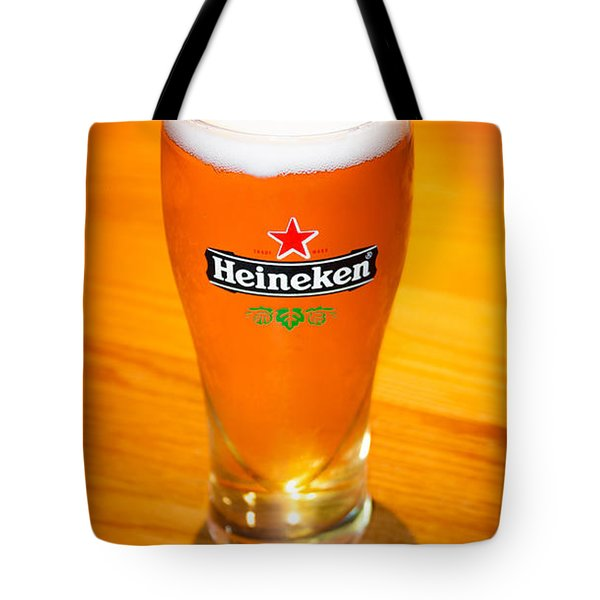 A Cold Refreshing Pint Of Heineken Lager Tote Bag