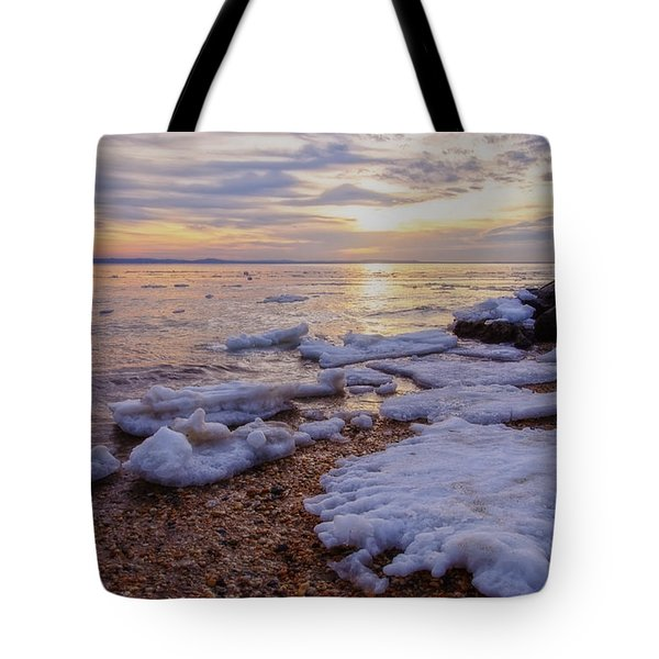Tote Bag featuring the photograph A Cold Sandy Hook Winter by Debra Fedchin