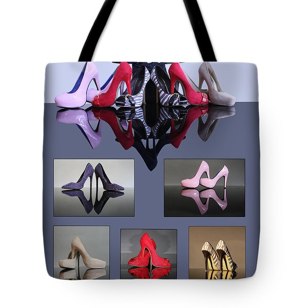 A Collection Of Stiletto Shoes Tote Bag