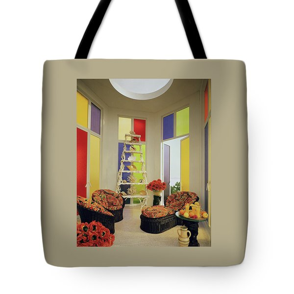 A Colorful Living Room Tote Bag