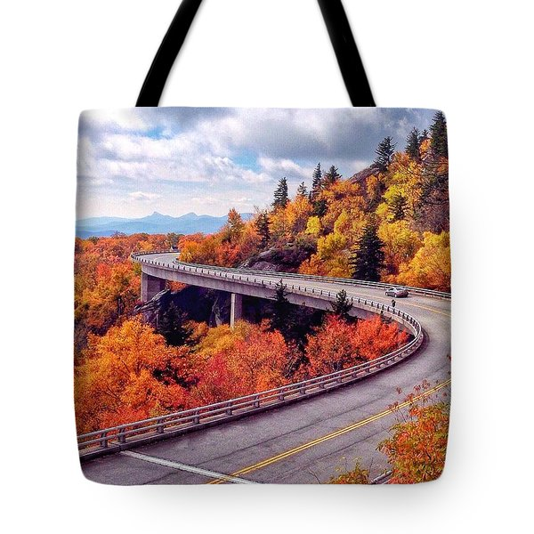 A Colorful Ride Along The Blue Ridge Parkway Tote Bag