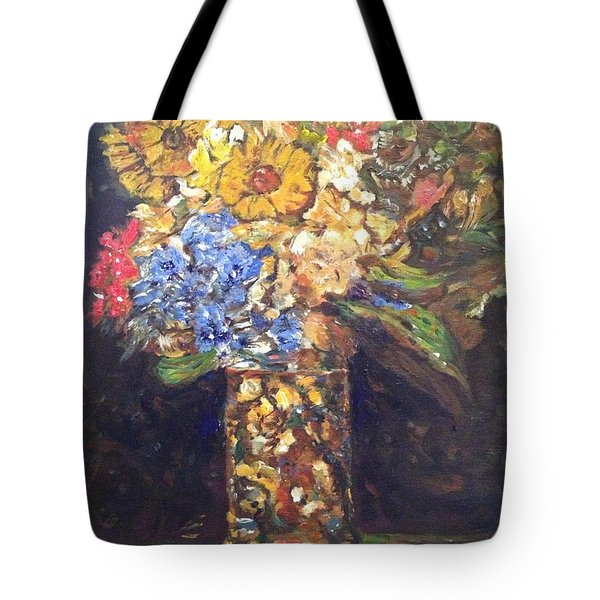 Tote Bag featuring the painting A Colorful Sun-day by Belinda Low