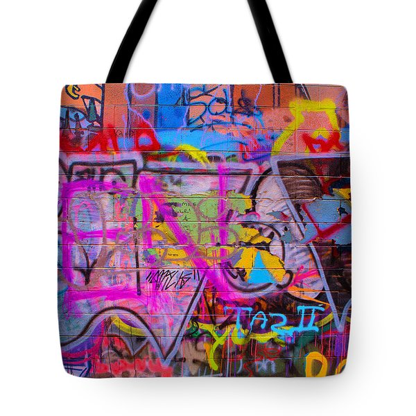 A Colourful Wall. Tote Bag
