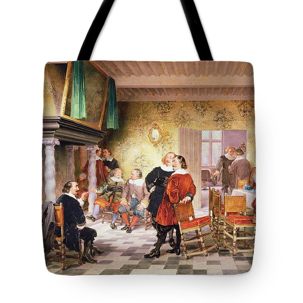 A Convivial Meeting Of The Brewers Tote Bag by Louis Haghe
